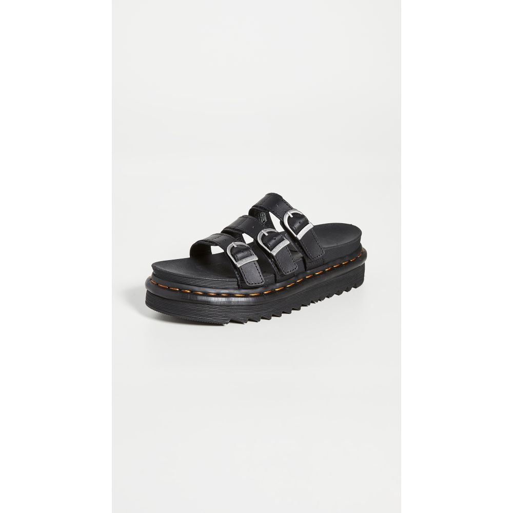 ドクターマーチン Dr. Martens レディース サンダル・ミュール シューズ・靴【Blaire Slide Sandals】Black Hydro