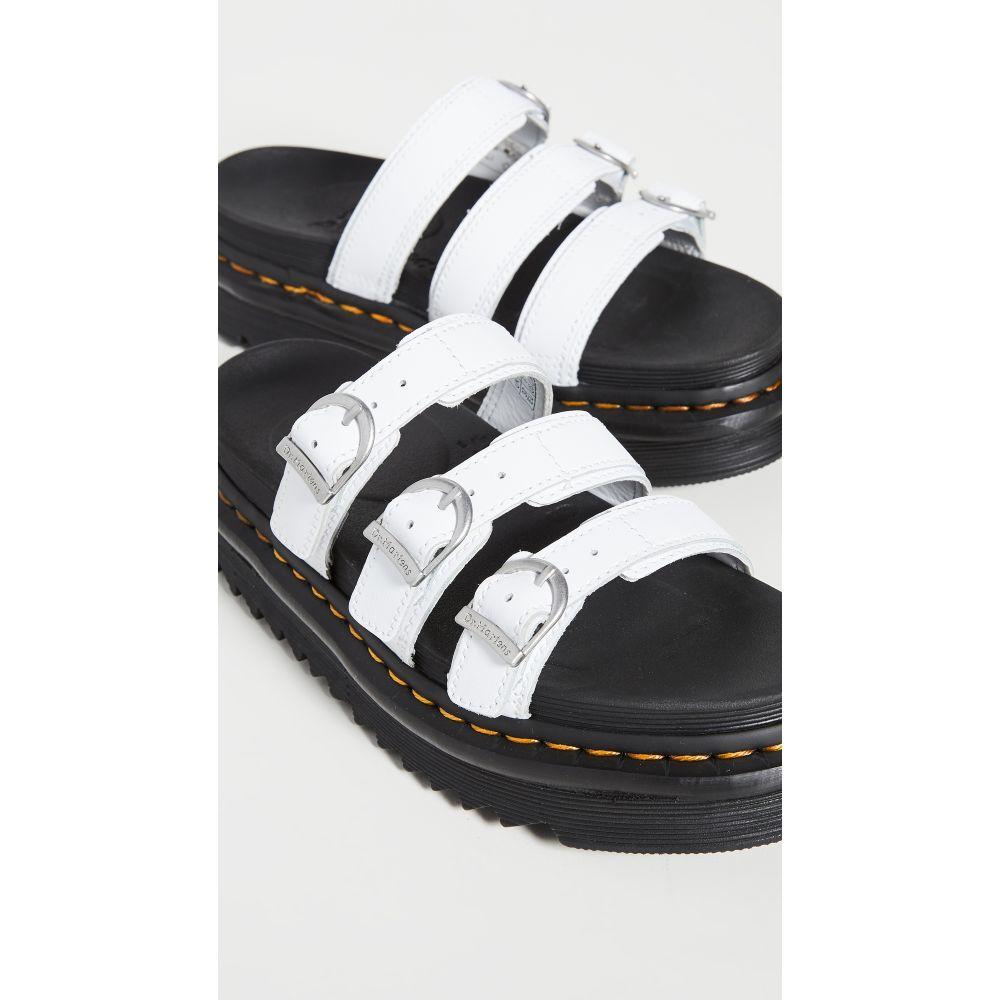 ドクターマーチン Dr. Martens レディース サンダル・ミュール シューズ・靴【Blaire Slide Sandals】White Hydro
