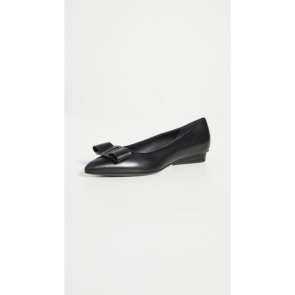 サルヴァトーレ フェラガモ Salvatore Ferragamo レディース スリッポン・フラット シューズ・靴【Viva Flats】Nero