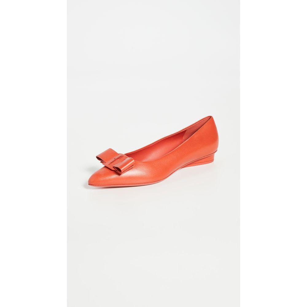 サルヴァトーレ フェラガモ Salvatore Ferragamo レディース スリッポン・フラット シューズ・靴【Viva Flats】Arid Coral