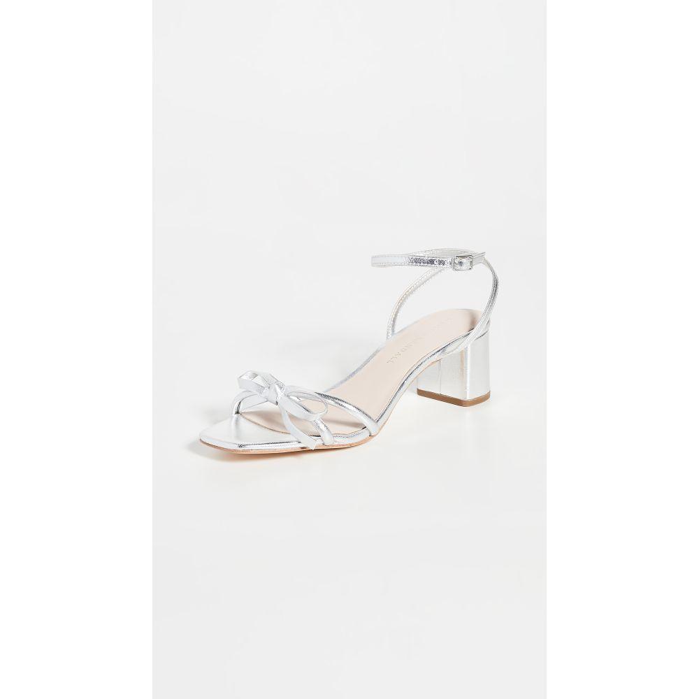 ロフラーランドール Loeffler Randall レディース サンダル・ミュール シューズ・靴【Gracie Skinny Strap Bow Low Heel Sandals】Silver
