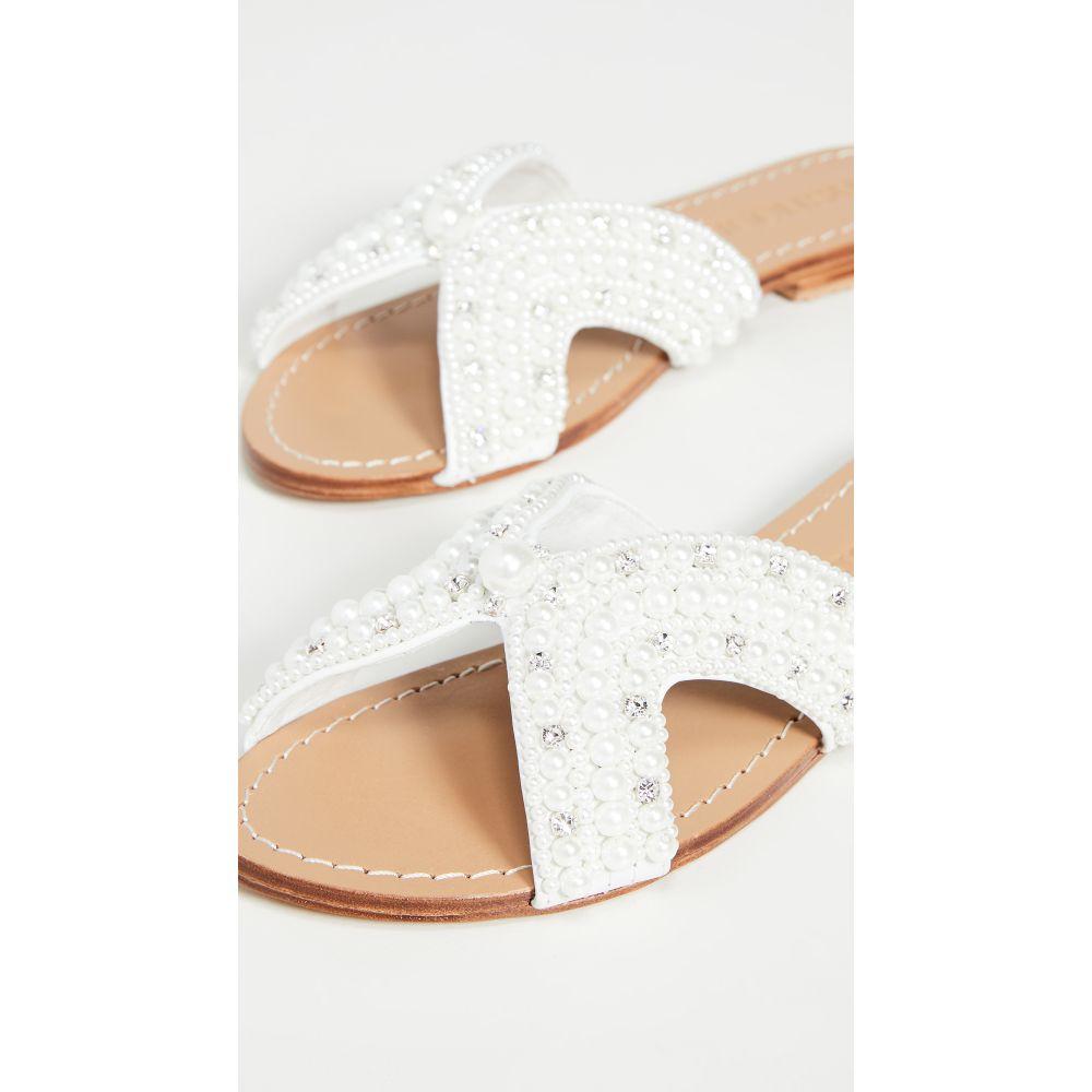 ミスティック Mystique レディース サンダル・ミュール シューズ・靴【Imitation Pearl Slides】White/Pearl