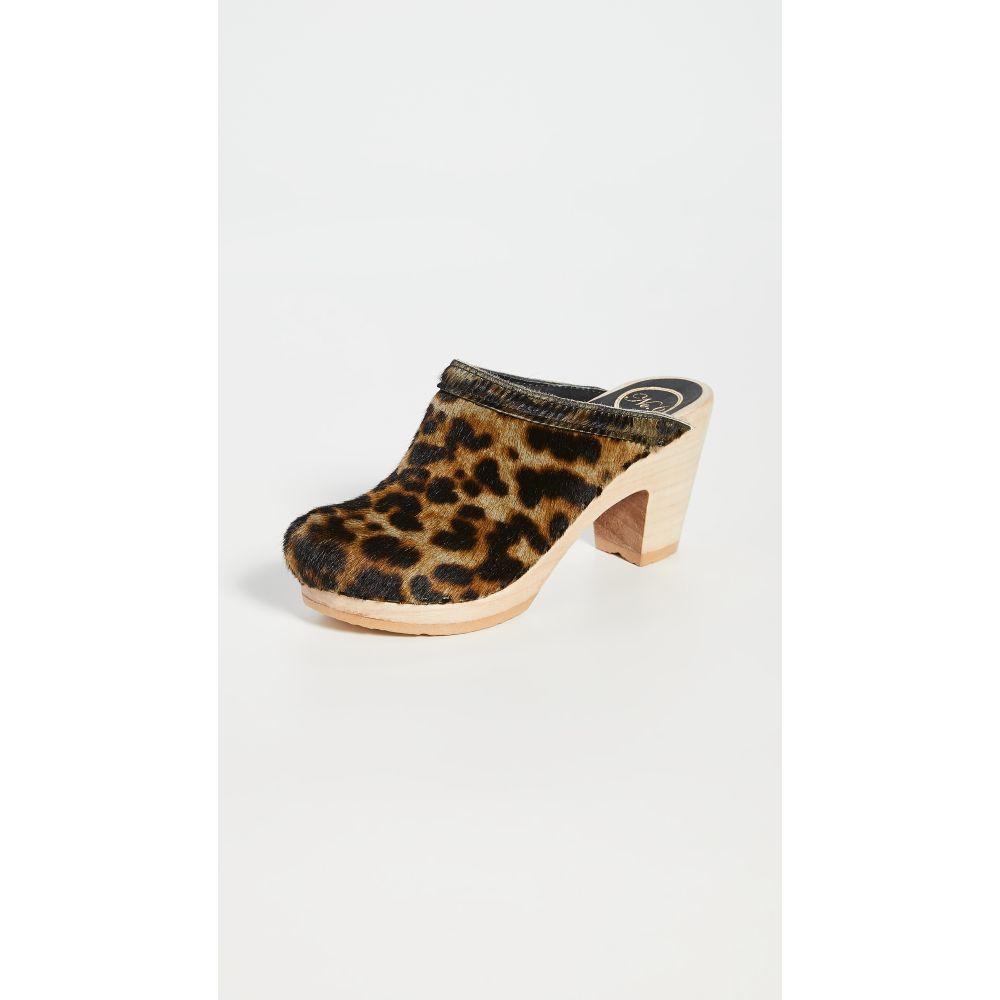 ナンバーシックス No.6 レディース クロッグ シューズ・靴【Old School High Heel Clogs】Camo Leopard Pony