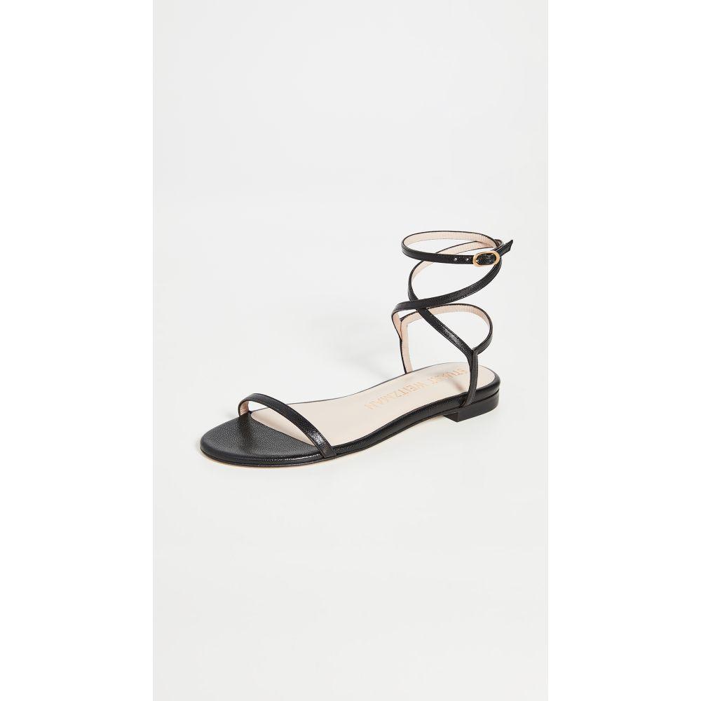 スチュアート ワイツマン Stuart Weitzman レディース サンダル・ミュール フラット シューズ・靴【Merinda Flat Sandals】Black
