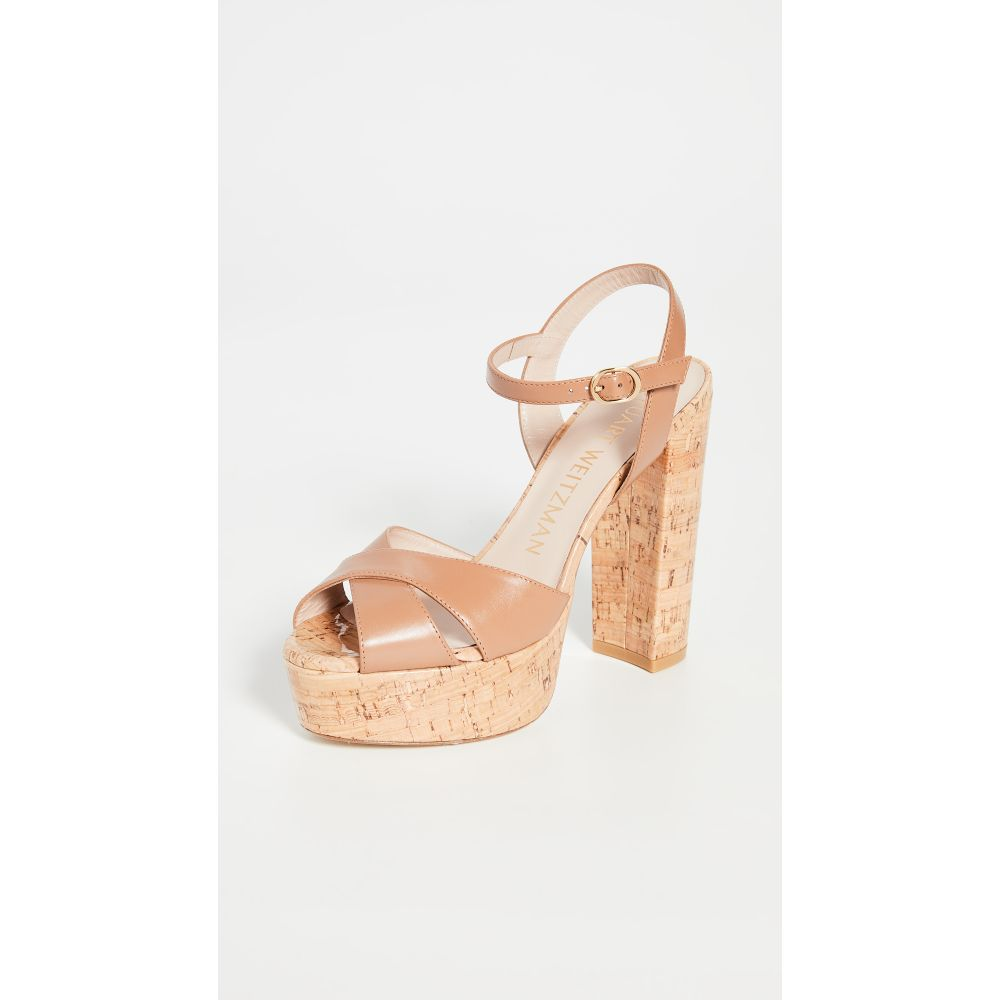 スチュアート ワイツマン Stuart Weitzman レディース サンダル・ミュール シューズ・靴【Soliesse Platform Sandals】Tan