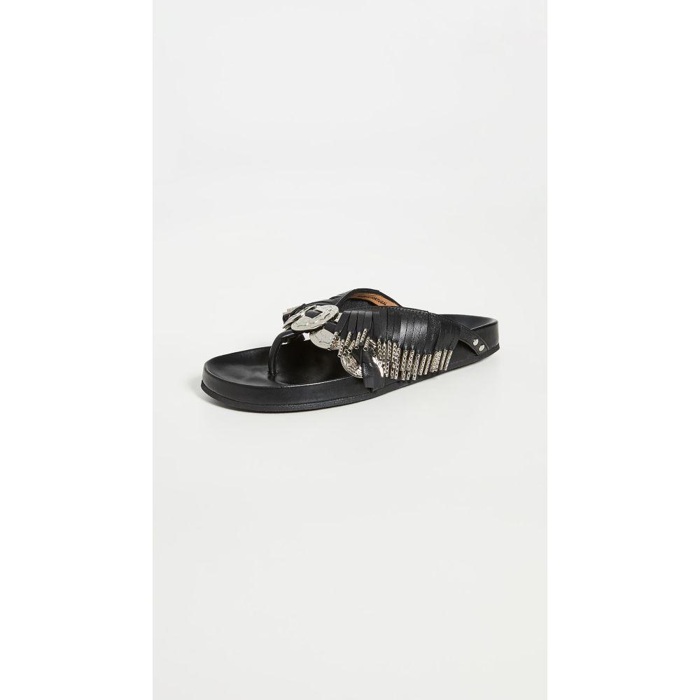 トーガ Toga Pulla レディース サンダル・ミュール シューズ・靴【Metal Embellished Fringe Sandals】Black