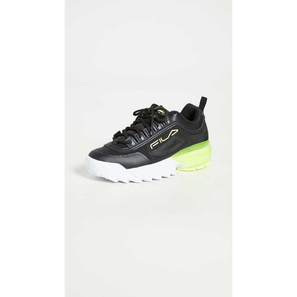 フィラ Fila レディース スニーカー シューズ・靴【Disruptor 2A Sneakers】Black/White/Safety Yellow