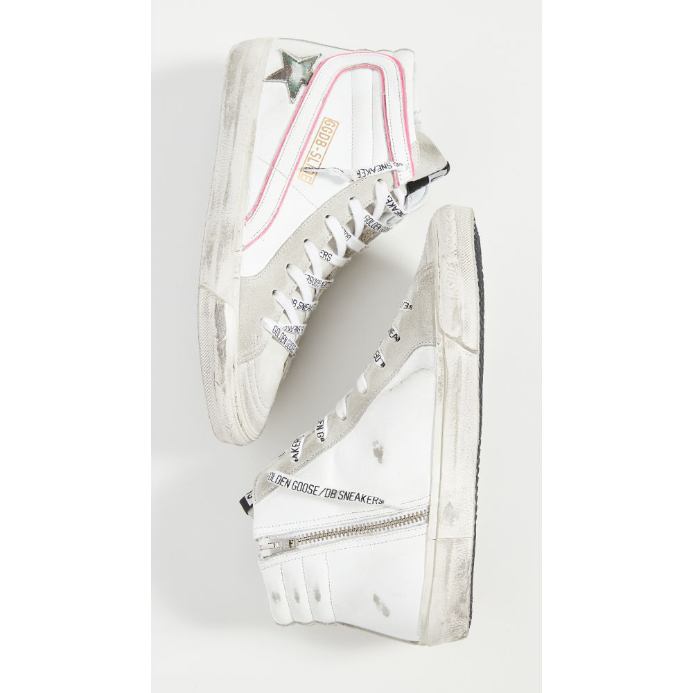ゴールデン グース Golden Goose レディース スニーカー シューズ・靴【Slide Sneakers】White/Ice/Camo