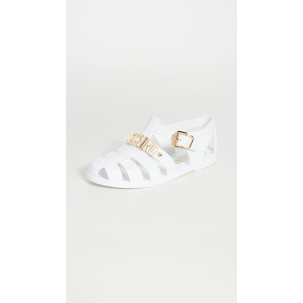 モスキーノ Moschino レディース サンダル・ミュール シューズ・靴【Buckle W Sandals】White