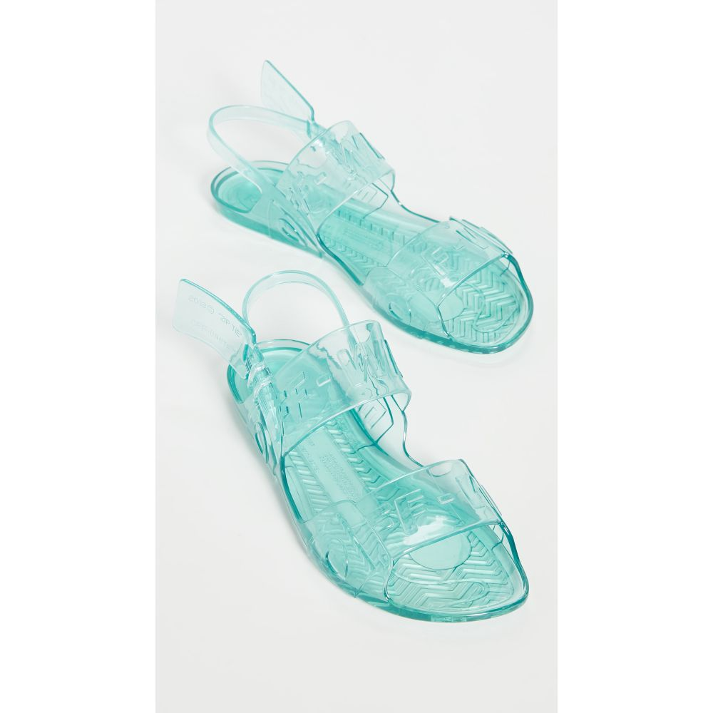 オフホワイト Off-White レディース サンダル・ミュール シューズ・靴【Zip Tie Jelly Sandals】Light Blue