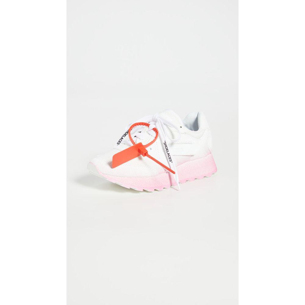 オフホワイト Off-White レディース スニーカー シューズ・靴【Degrade HG Runner Sneakers】White/Fuchsia