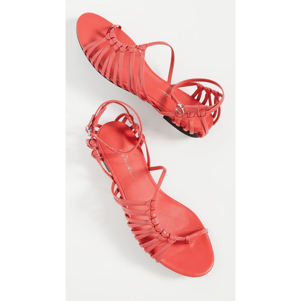 スリーワン フィリップ リム 3.1 Phillip Lim レディース サンダル・ミュール フラット シューズ・靴【Lily Flat Sandals】Corallo