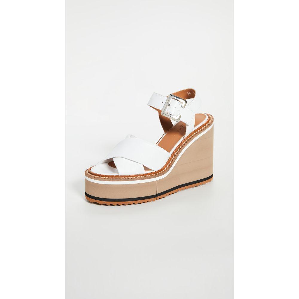 ロベール クレジュリー Clergerie レディース サンダル・ミュール ウェッジソール シューズ・靴【Noemie Wedge Sandals】White