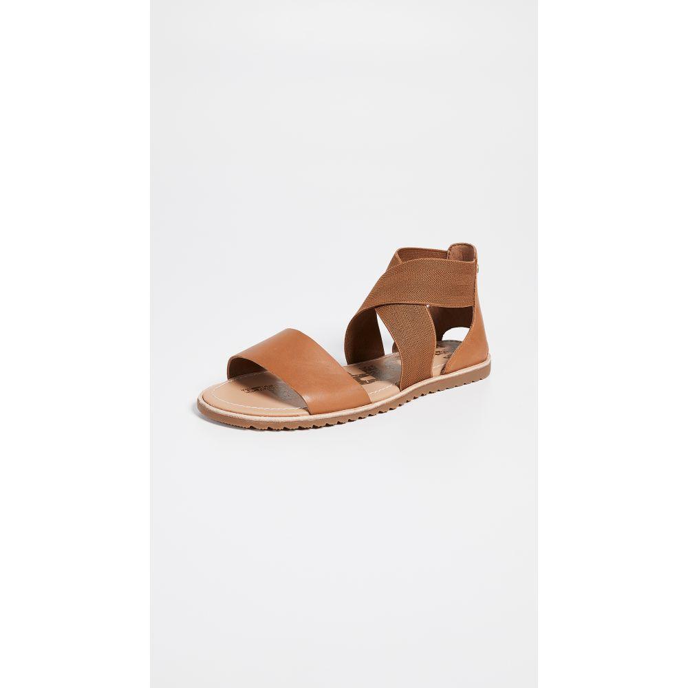 ソレル Sorel レディース サンダル・ミュール シューズ・靴【Ella Sandals】Camel Brown