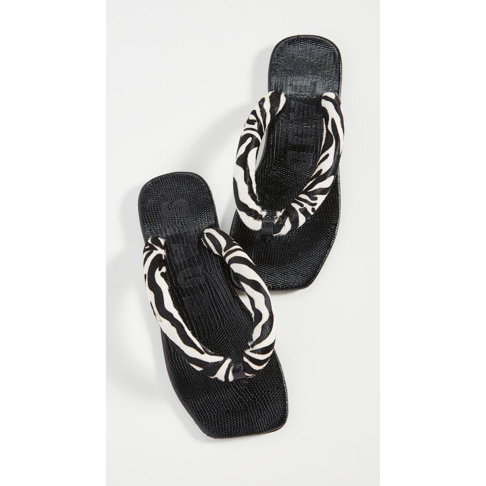 スタウド STAUD レディース ビーチサンダル シューズ・靴【Rio Flip Flop】Zebra Print
