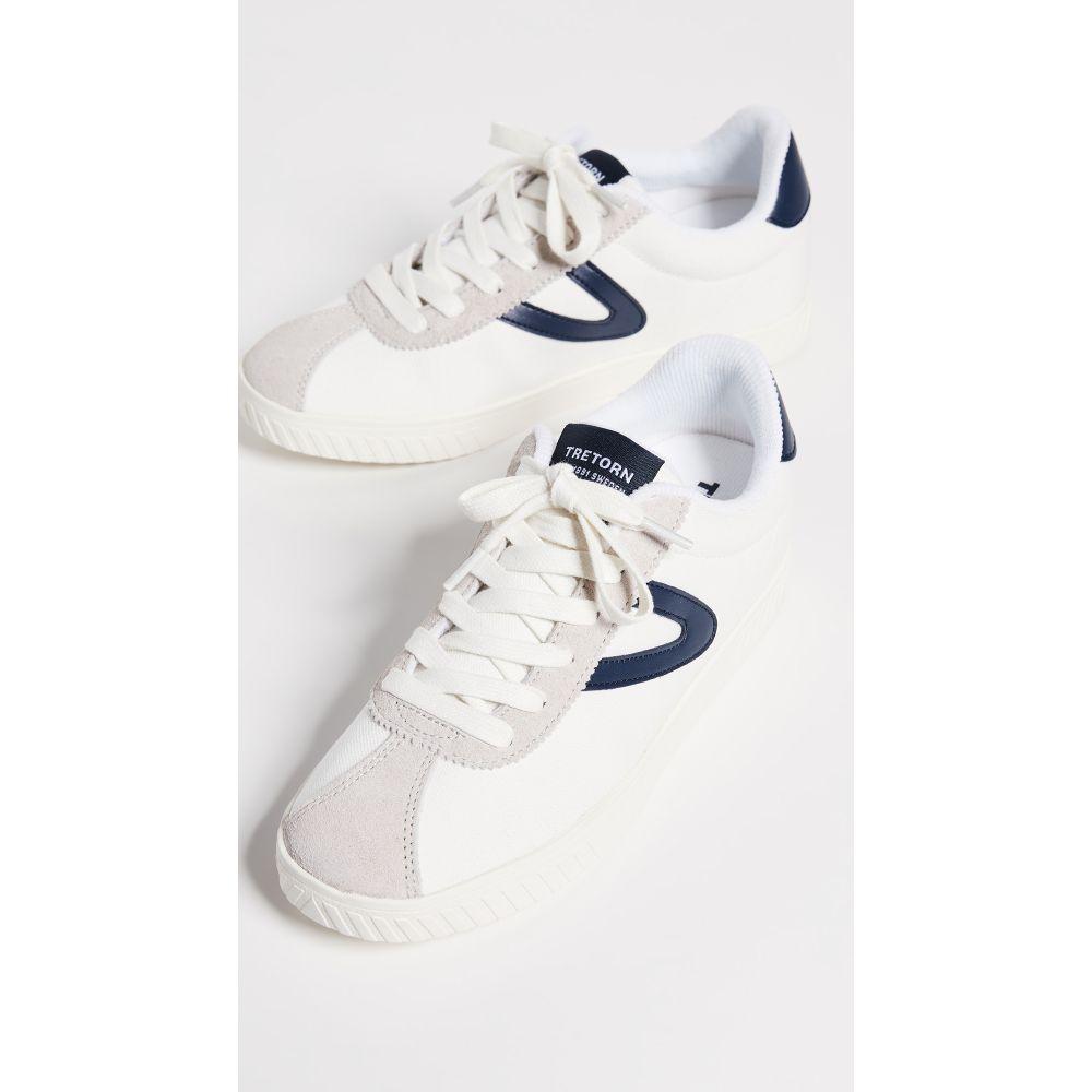 トレトン Tretorn レディース スニーカー レースアップ シューズ・靴【Callie Lace Up Sneakers】Vintage White/Ice/Night