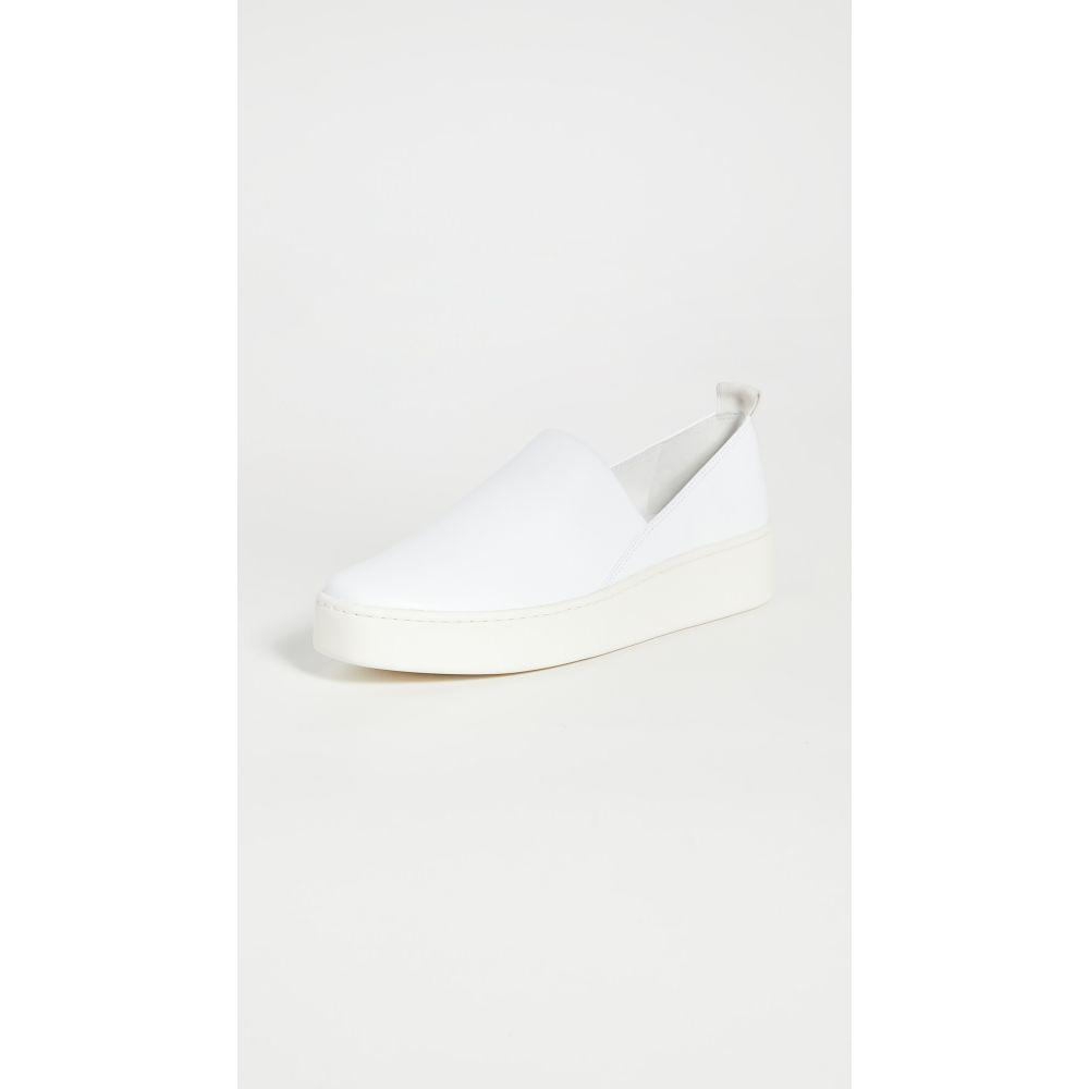 ヴィンス Vince レディース スリッポン・フラット シューズ・靴【Saxon-2 Slip On Sneakers】Optic White