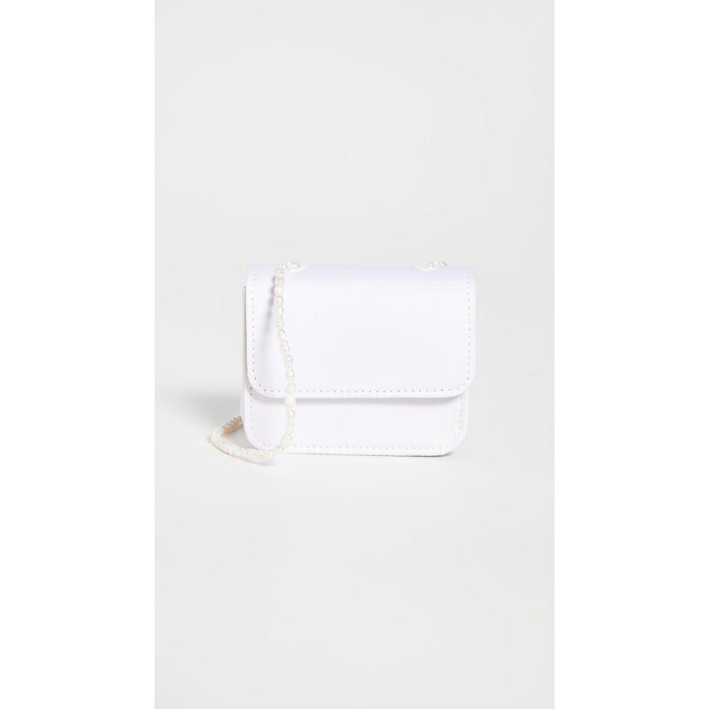 ゲラーレ ミズラヒ Gelareh Mizrahi レディース ショルダーバッグ バッグ【Satin Micro Mini Pearl】White