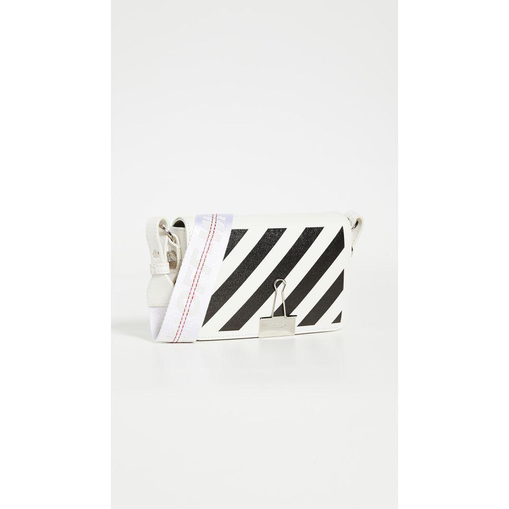 オフホワイト Off-White レディース ショルダーバッグ バッグ【Diagonal Mini Flap Bag】White/Black
