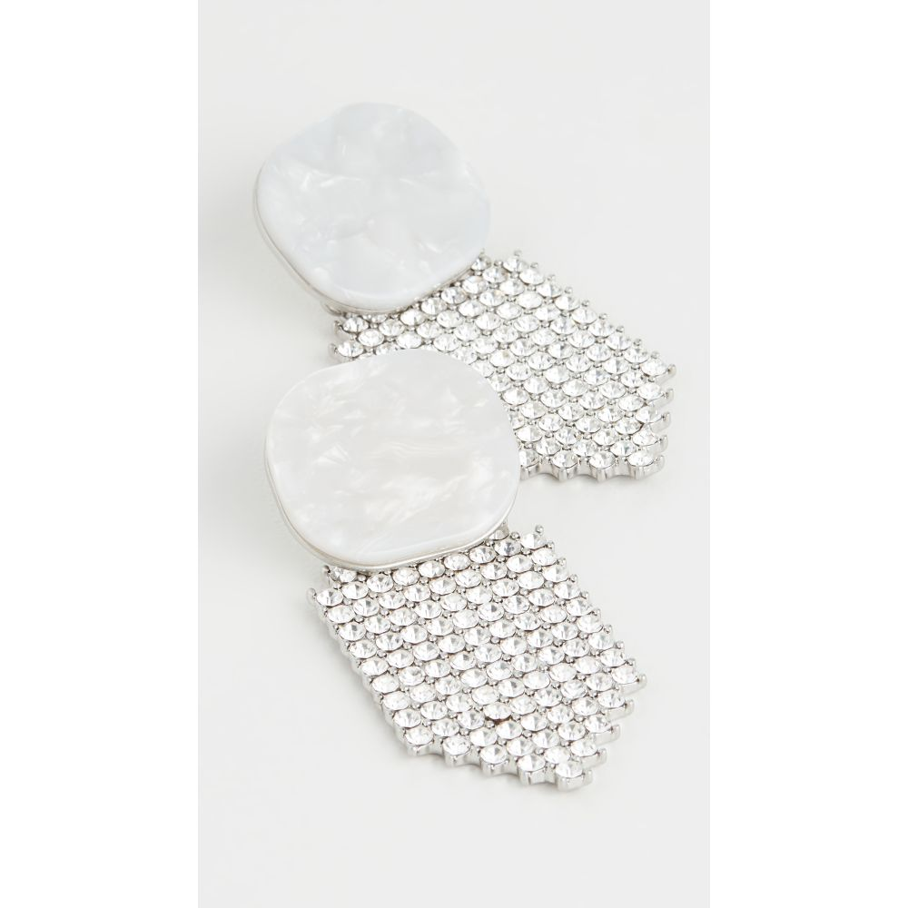 フォーラブアンドレモン For Love & Lemons レディース イヤリング・ピアス ジュエリー・アクセサリー【Auburn Crystal Earrings】White