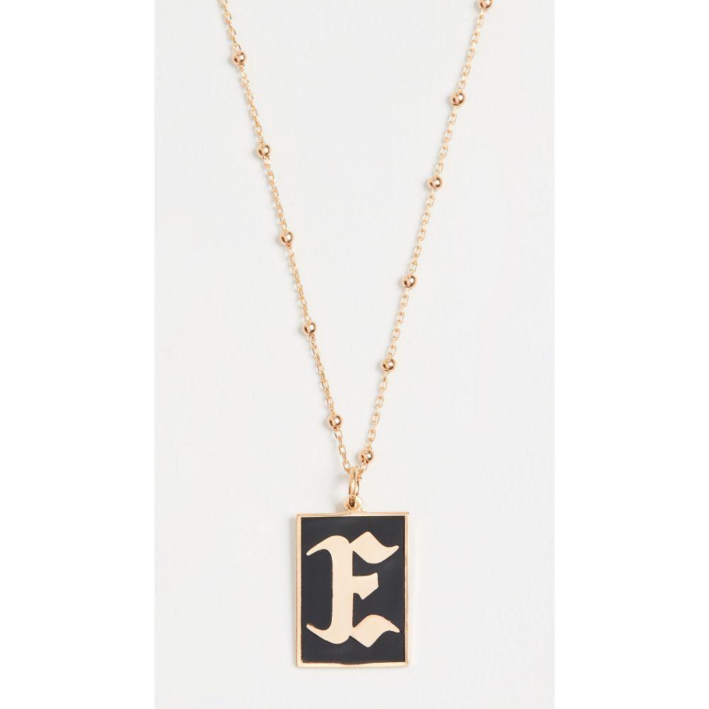 メゾンアイレム Maison Irem レディース ネックレス ジュエリー・アクセサリー【Gothic Initial Necklace】-