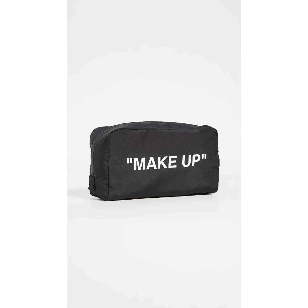 オフホワイト Off-White レディース ポーチ 【Make Up Pouch】Black/White
