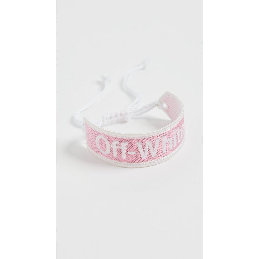 オフホワイト Off-White レディース ブレスレット ジュエリー・アクセサリー【Off White Macrame Bracelet】Pink/White