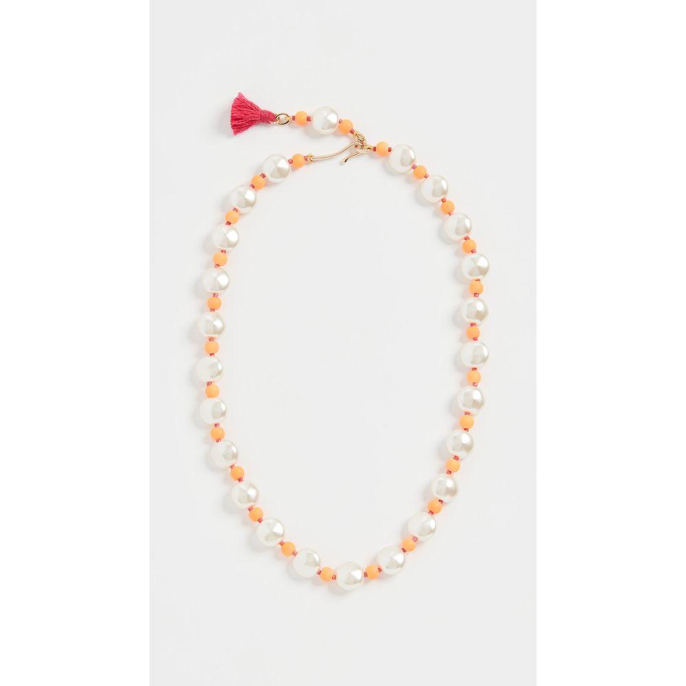 ロクサーヌ アスリーヌ Roxanne Assoulin レディース ネックレス ジュエリー・アクセサリー【Pancake Imitation Pearl Necklace】Orange