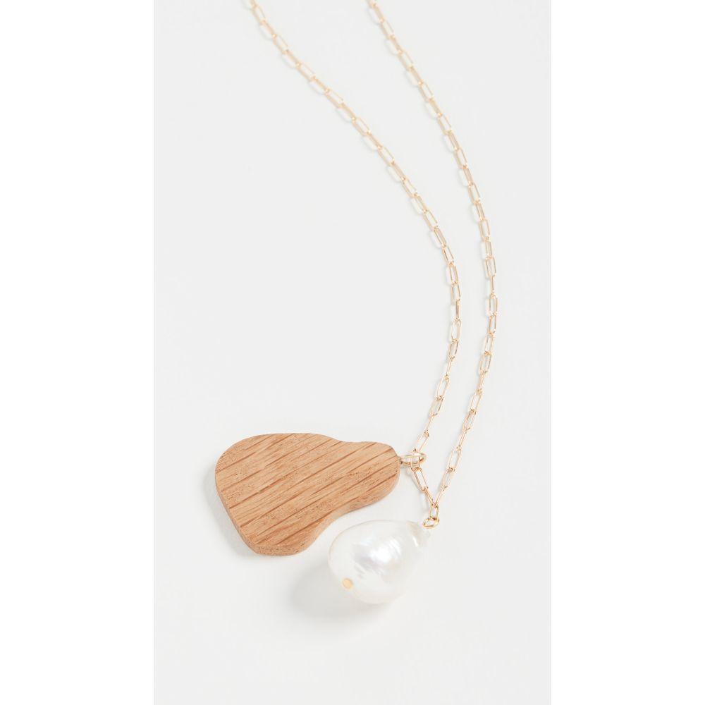 ソフィーモネット Sophie Monet レディース ネックレス ジュエリー・アクセサリー【The Baroque Wood Drop Necklace】Wood/Pearl