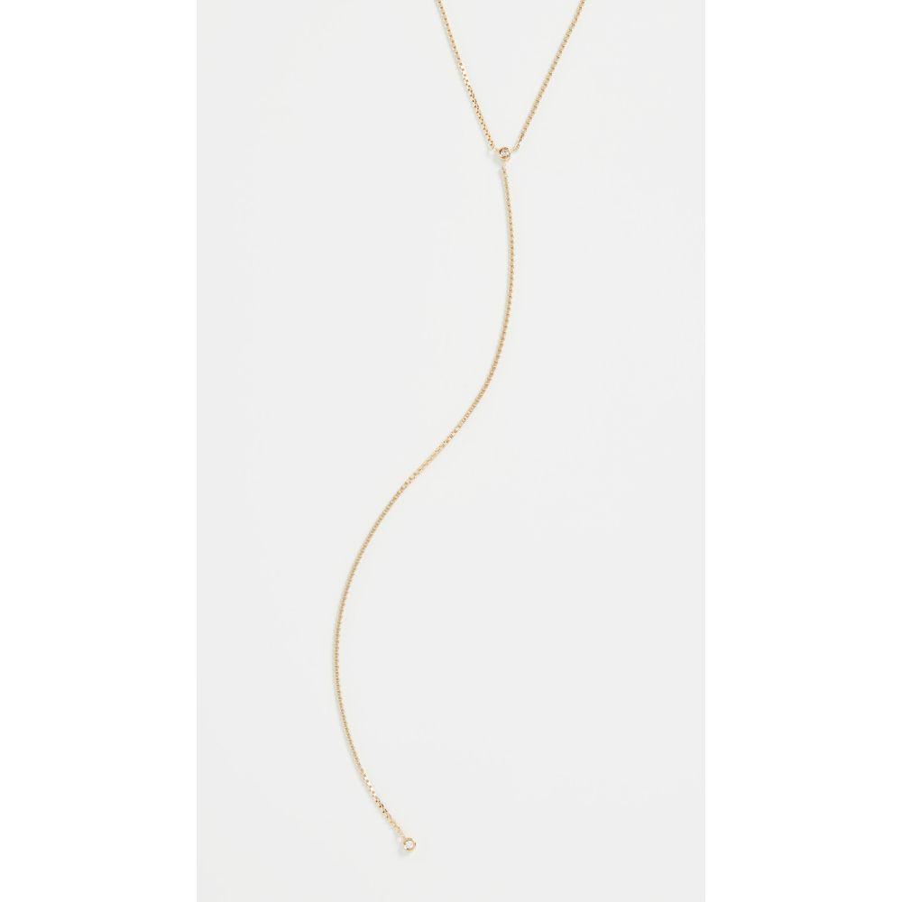 ジェニファーズーナー Jennifer Zeuner Jewelry レディース ネックレス ラリエット ジュエリー・アクセサリー【Mallory Lariat Necklace】Gold Vermeil