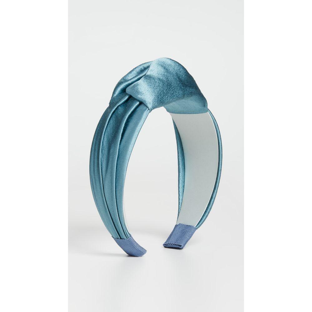 ジェニファーベア Jennifer Behr レディース ヘアアクセサリー ヘッドバンド【Samaya Headband In Hammered Silk】Storm