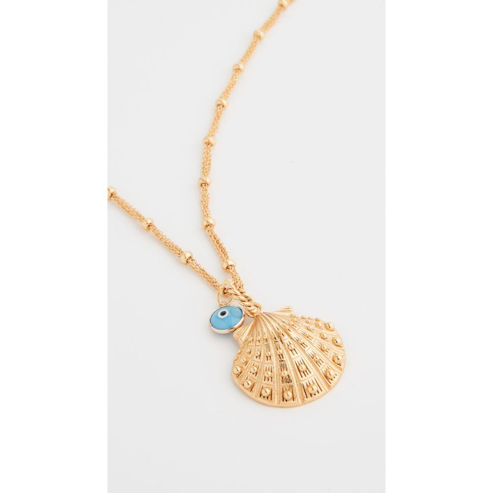 マラリノ Mallarino レディース ネックレス チャーム ジュエリー・アクセサリー【Marina Large Seashell Charm Necklace】Brass Gold