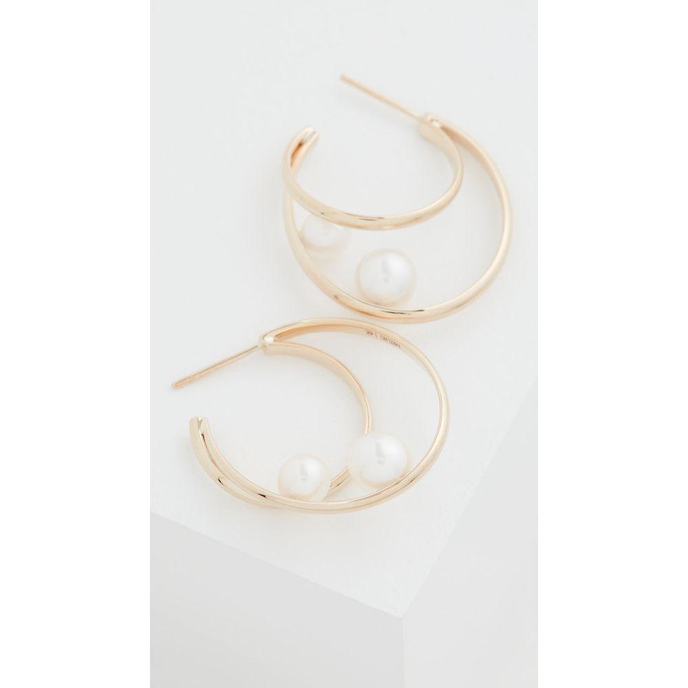 ミズキ Mizuki レディース イヤリング・ピアス ジュエリー・アクセサリー【14k Elipse Pearl Earrings】Gold/Pearl