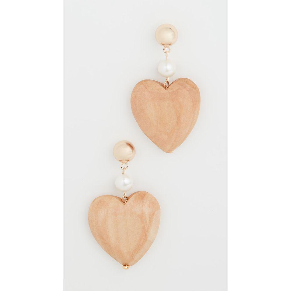 ソフィーモネット Sophie Monet レディース イヤリング・ピアス ハート ジュエリー・アクセサリー【Maple Wood Blue Heart Earrings】Wood