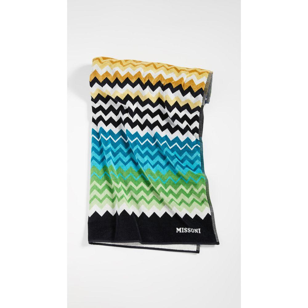 ミッソーニ Missoni Home レディース ビーチタオル 水着・ビーチウェア【Stan Beach Towel】Multi Blue