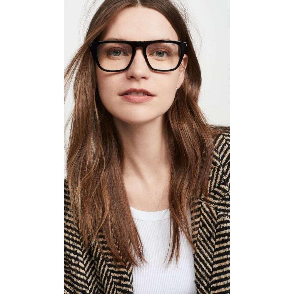イヴ サンローラン Saint Laurent レディース メガネ・サングラス 【SL343 Glasses】Black/Black/Transparent