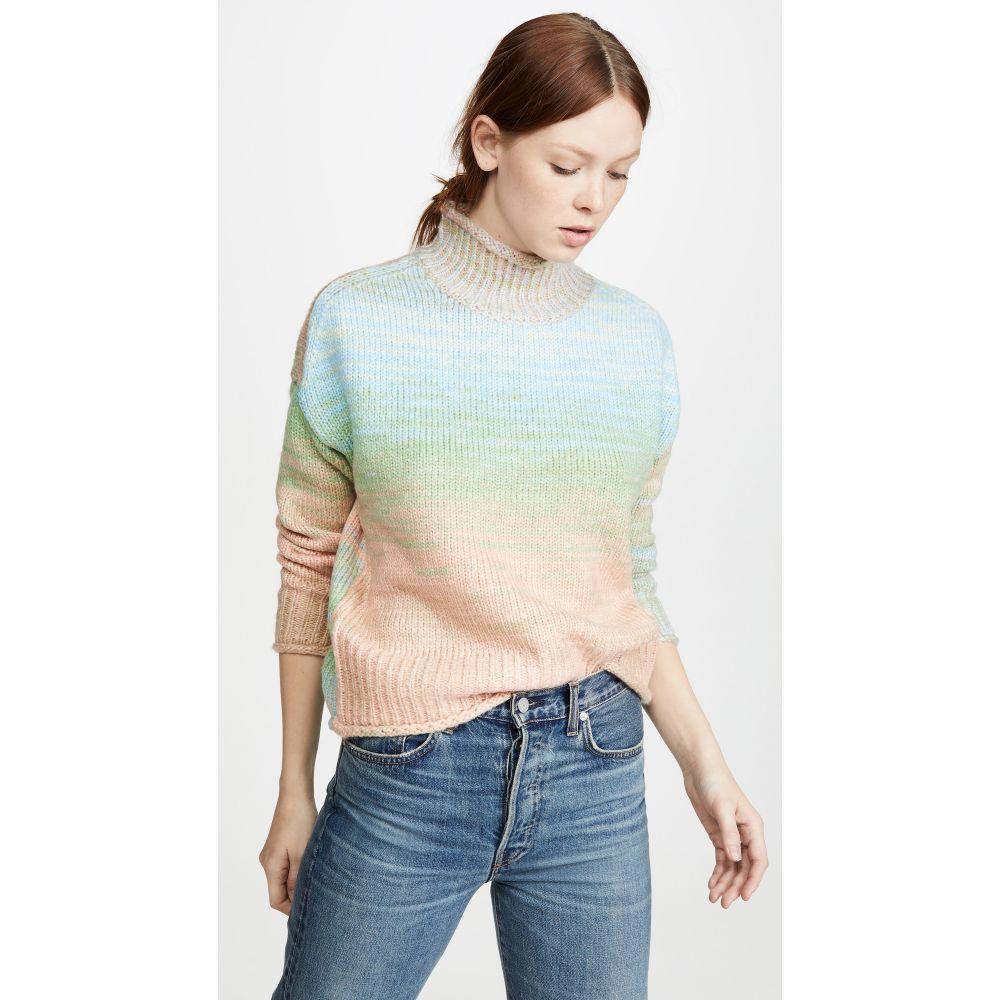 525 レディース ニット・セーター トップス【Neon Melange Sweater】Water Blue Multi