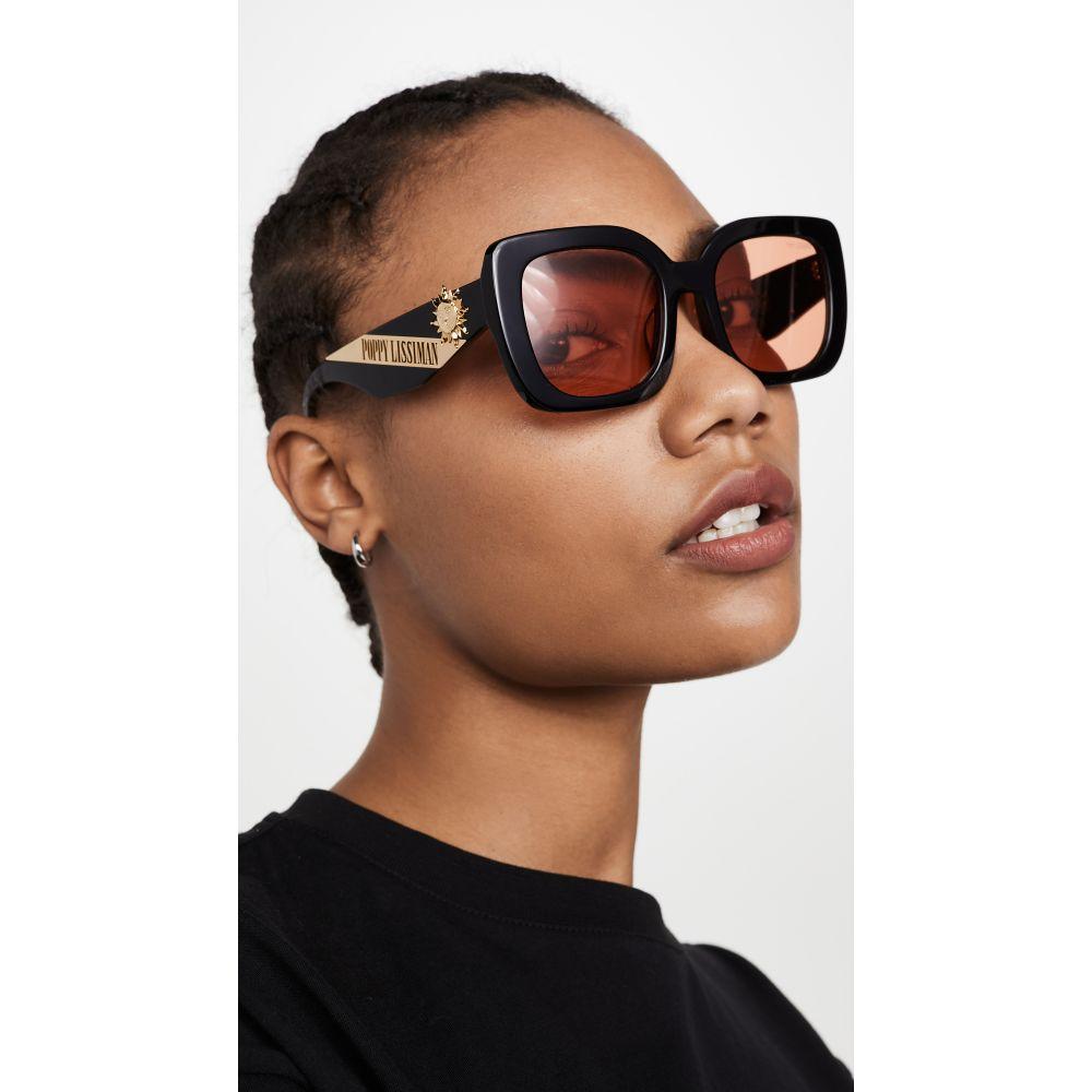 ポピー リシマン Poppy Lissiman レディース メガネ・サングラス 【Helios Sunglasses】Black/Orange