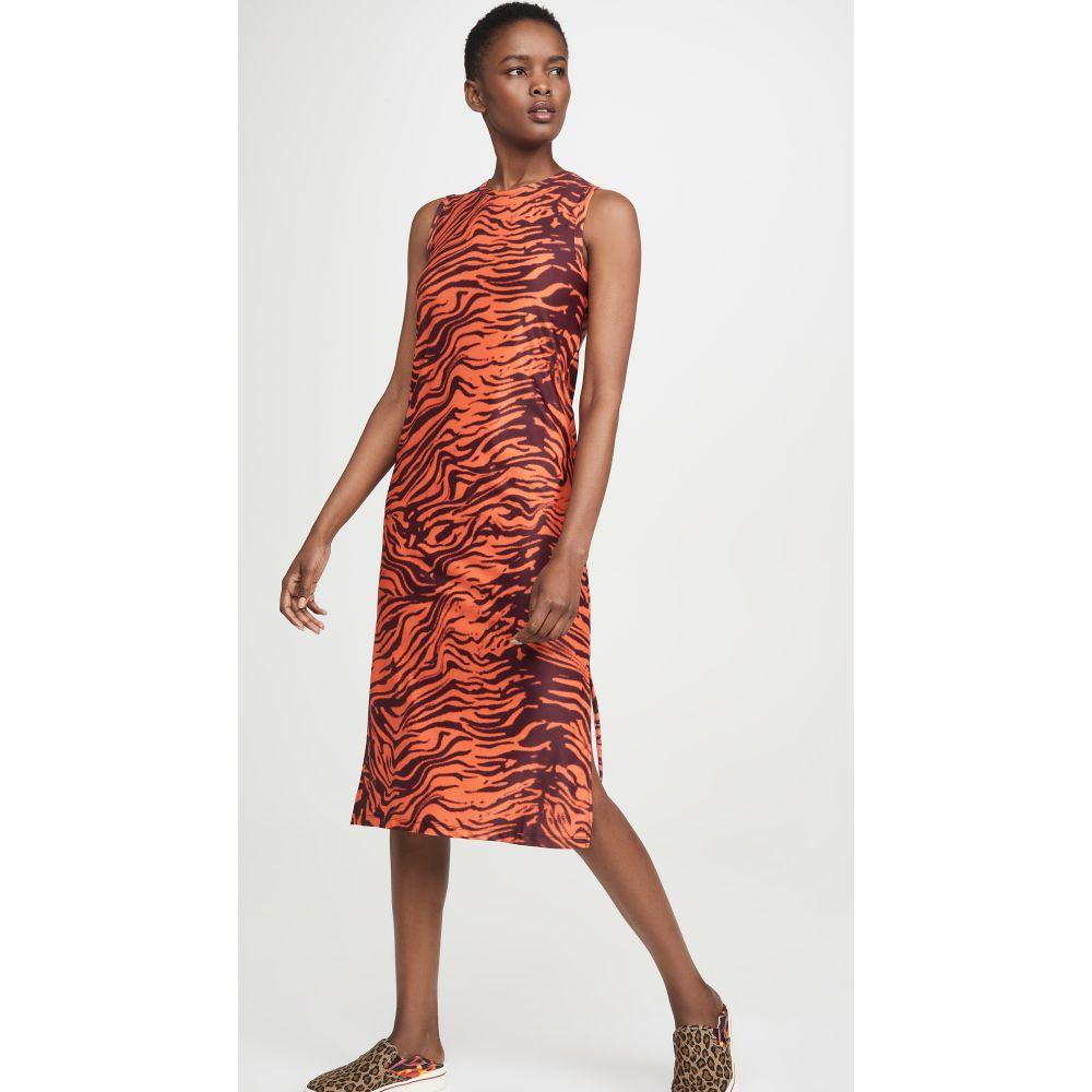 ツイン ファンタジー Twin Fantasy レディース ワンピース タンクドレス ミドル丈 ワンピース・ドレス【Midi Tank Dress】Orange Tiger