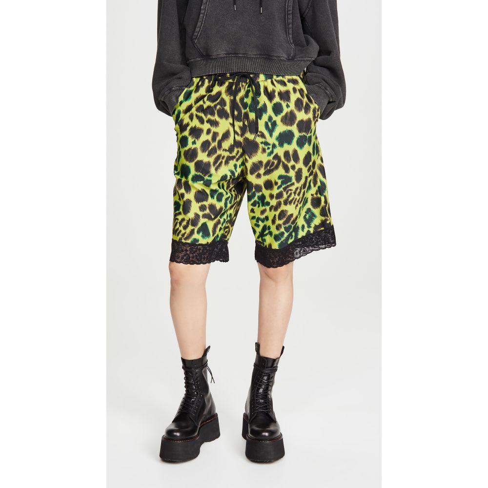 ツイン ファンタジー Twin Fantasy レディース ショートパンツ ボトムス・パンツ【Baggy Shorts】Lime Green Leopard