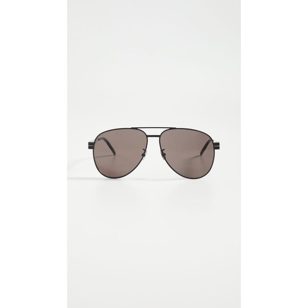 イヴ サンローラン Saint Laurent レディース メガネ・サングラス アビエイター【Pilot Aviator Sunglasses】Black