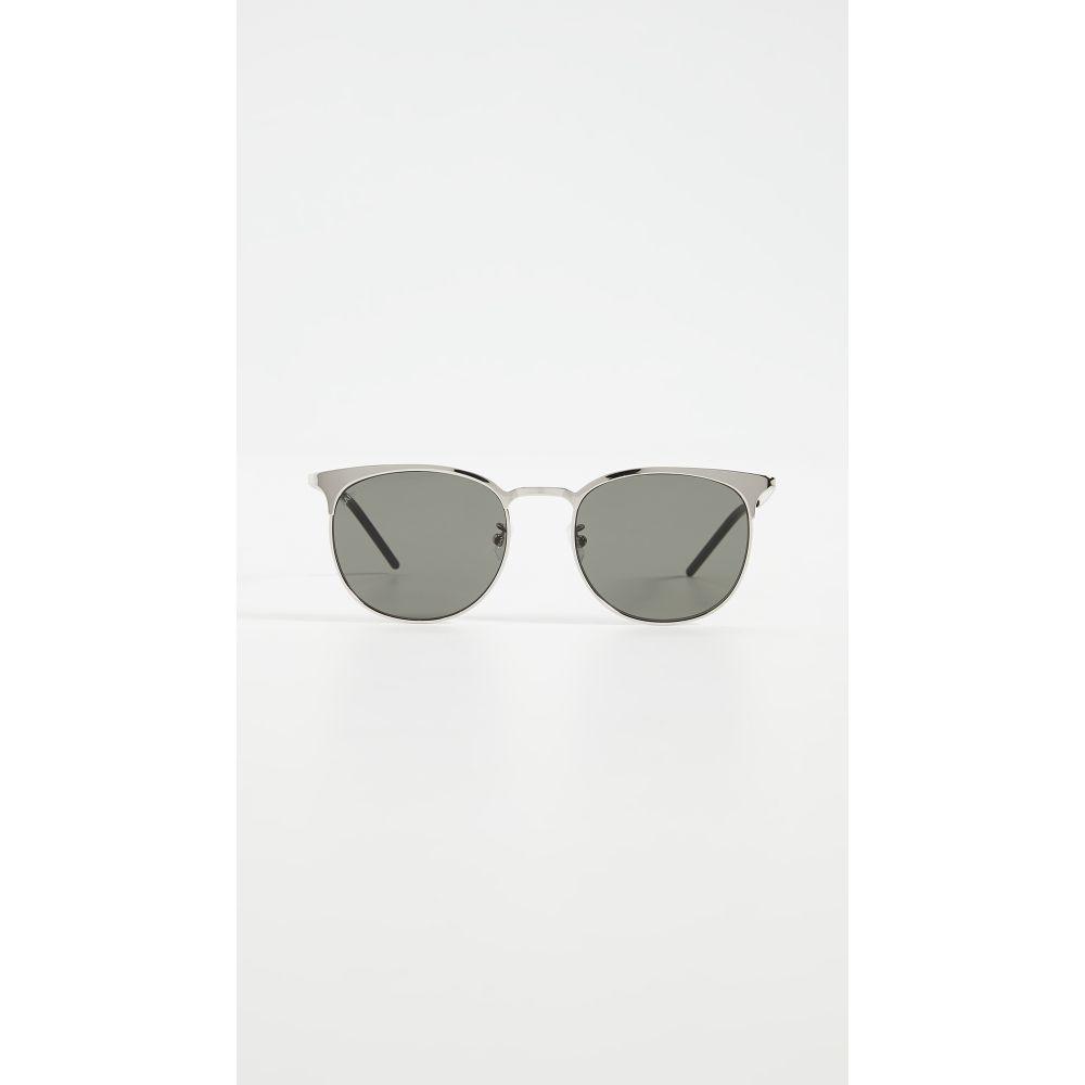 イヴ サンローラン Saint Laurent レディース メガネ・サングラス 【SL350 Slim Sunglasses】Silver/Silver/Grey