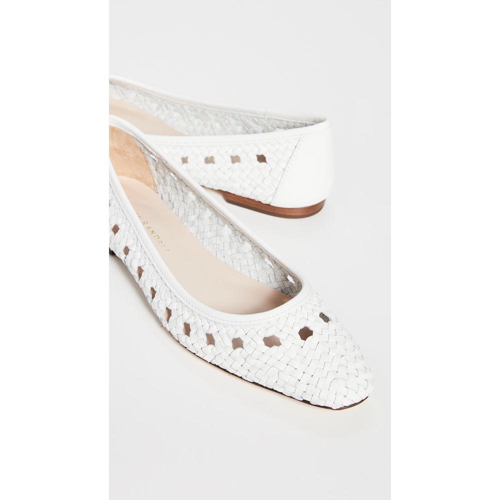 ロフラーランドール Loeffler Randall レディース スリッポン・フラット シューズ・靴【Maura Woven Leather Ballet Flats】Optic White