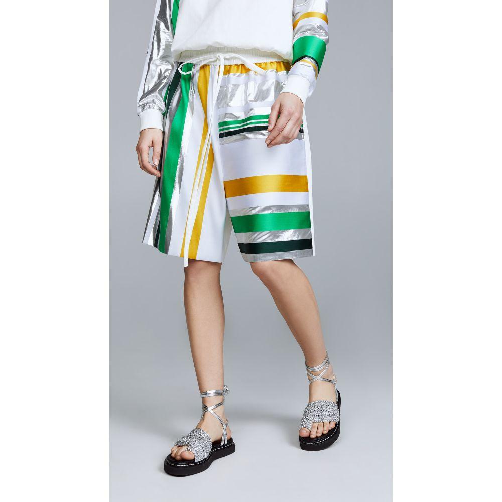 プラバル グルン Prabal Gurung レディース ショートパンツ ボトムス・パンツ【Drawstring Shorts】Emerald Silver Multi