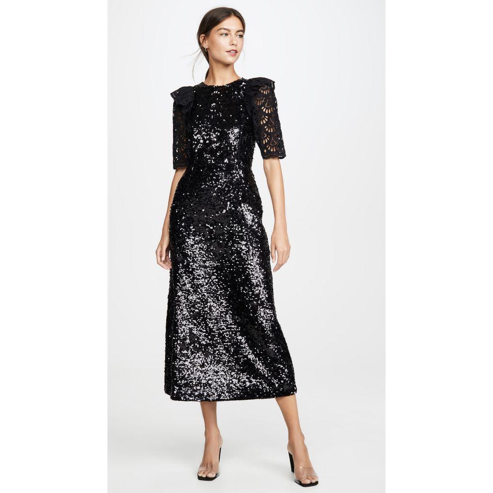 シー Sea レディース ワンピース ワンピース・ドレス【Sequined Short Sleeve Dress】Black