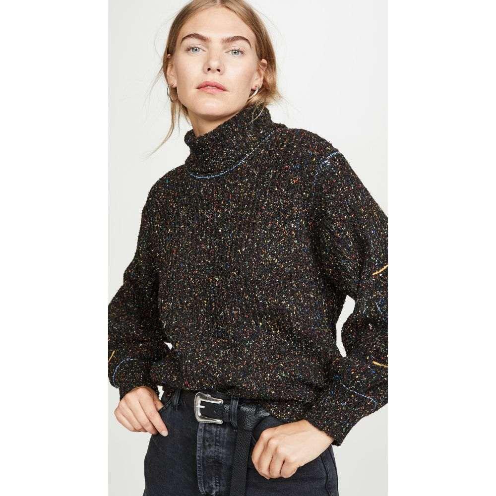 トーガ Toga Pulla レディース ニット・セーター トップス【Tweed Knit High Neck Sweater】Black