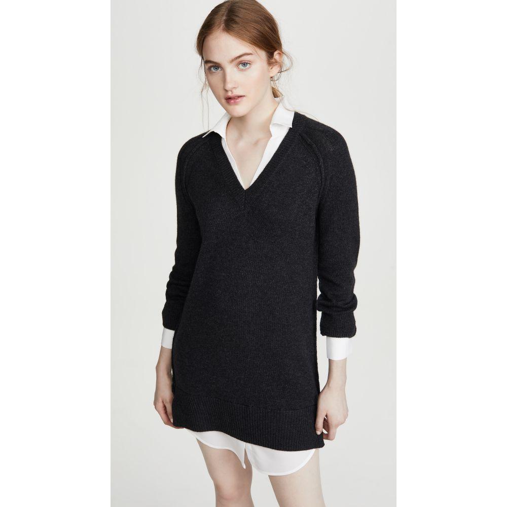 ブロシュウウォーカー Brochu Walker レディース ワンピース ワンピース・ドレス【V Looker Dress】Charcoal/White
