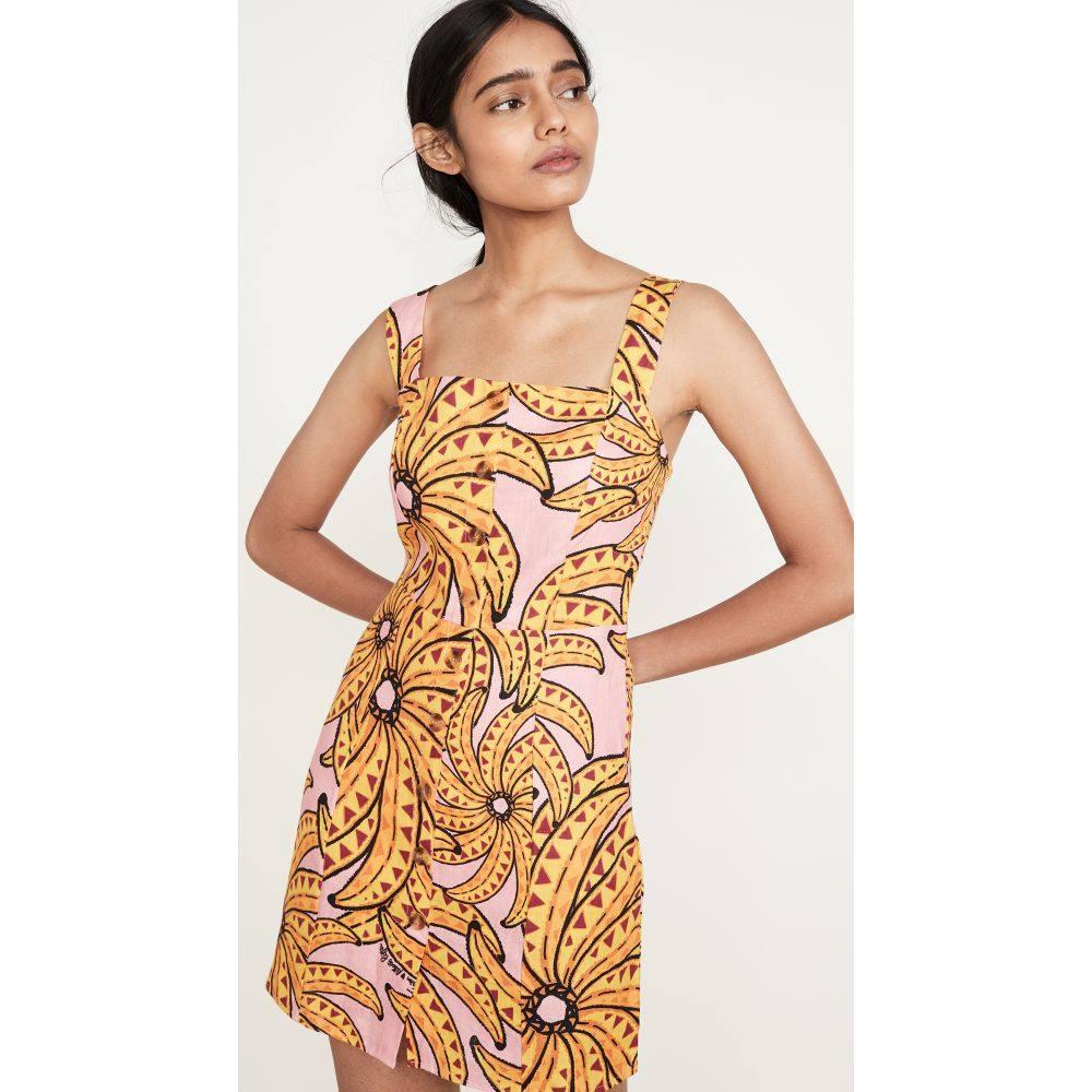 ファーム FARM Rio レディース ワンピース ワンピース・ドレス【Banana Pitta Button Down Short Dress】Pink Multi