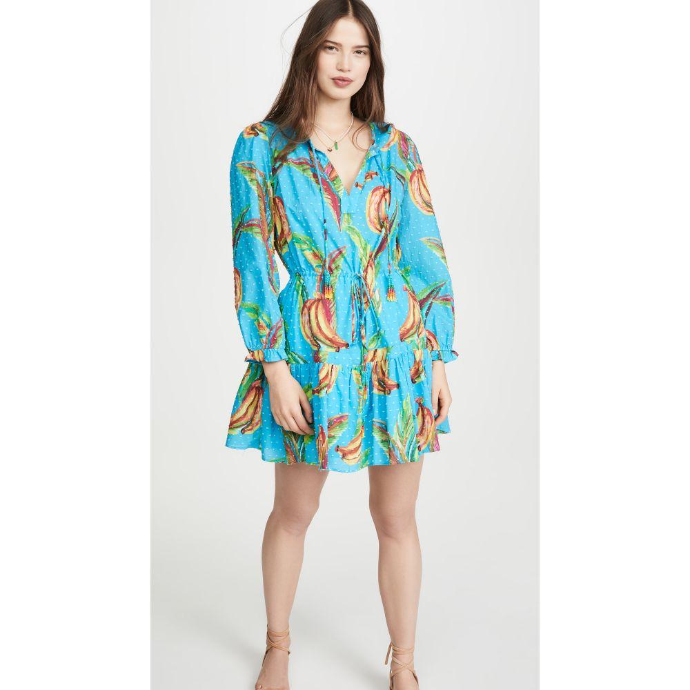 ファーム FARM Rio レディース ワンピース ミニ丈 ワンピース・ドレス【Banana Sky Mini Dress】Blue Multi