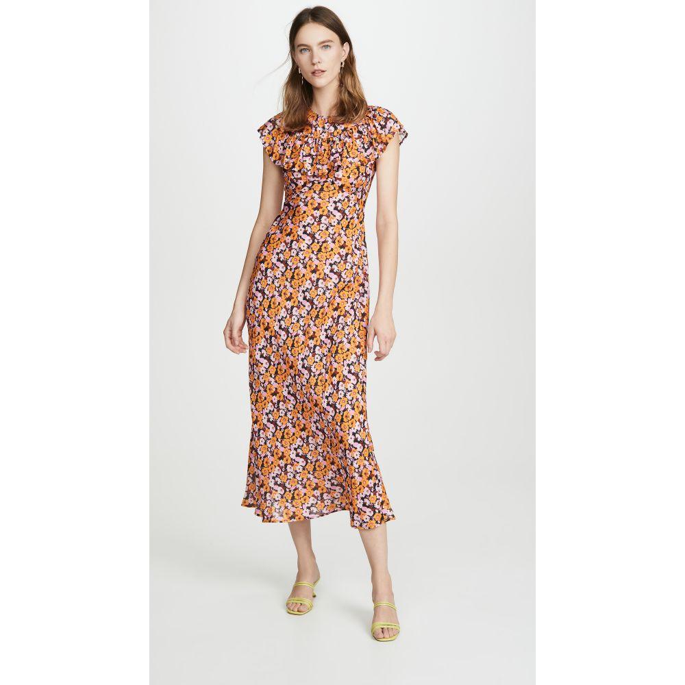 リキソ RIXO レディース ワンピース ワンピース・ドレス【Lacey Dress】Abstract 's Floral Yellow Pi